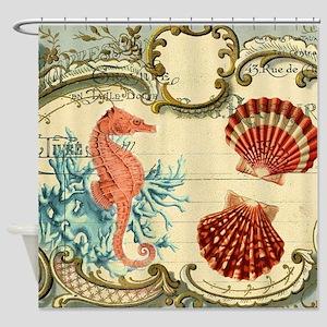 romantic seashells shabby chic Shower Curtain