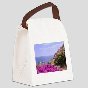 Purple Bougainvillea & Postiano Canvas Lunch Bag