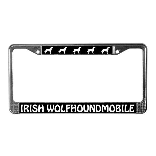 irish wolfhoundmobile license plate frame by mytreat. Black Bedroom Furniture Sets. Home Design Ideas