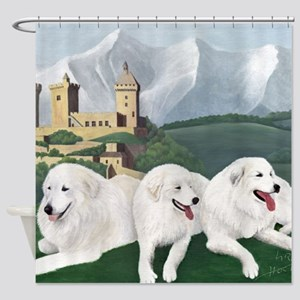 Great Pyrenees Foix Shower Curtain