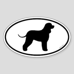 Irish Water Spaniel Oval Sticker