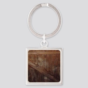 primitive farmhouse barn wood Square Keychain