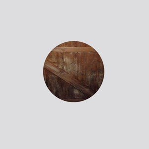 primitive farmhouse barn wood Mini Button