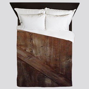 primitive farmhouse barn wood Queen Duvet