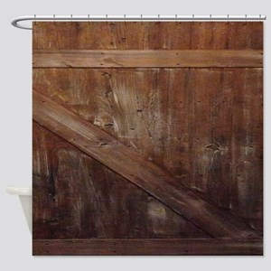 primitive farmhouse barn wood Shower Curtain