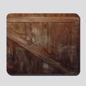 primitive farmhouse barn wood Mousepad