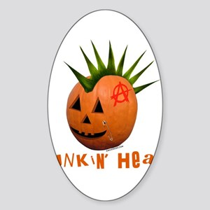 Punkin' Head Oval Sticker