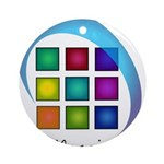 The Mosaic Hub Logo Round Ornament