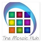 The Mosaic Hub Logo Square Car Magnet 3
