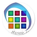 The Mosaic Hub Logo Round Car Magnet