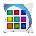 The Mosaic Hub Logo Woven Throw Pillow