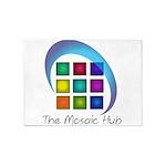 The Mosaic Hub Logo 5'x7'Area Rug