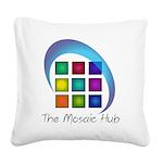 The Mosaic Hub Logo Square Canvas Pillow