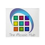 The Mosaic Hub Logo Throw Blanket