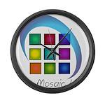 The Mosaic Hub Logo Large Wall Clock