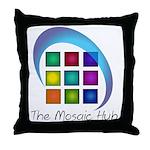 The Mosaic Hub Logo Throw Pillow