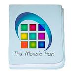 The Mosaic Hub Logo baby blanket