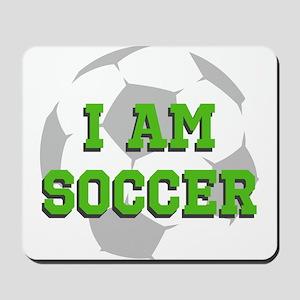 I Am Soccer Mousepad