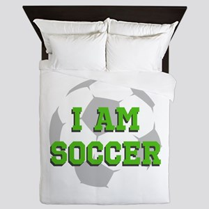 I Am Soccer Queen Duvet
