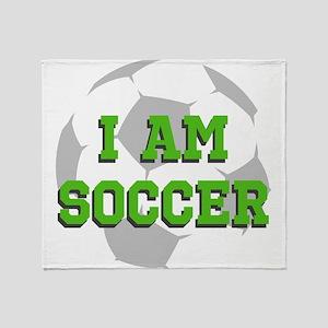 I Am Soccer Throw Blanket