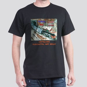 NORTHLANDZ SNOW SCENE TRAIN. Dark T-Shirt