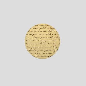 shabby chic french script  Mini Button