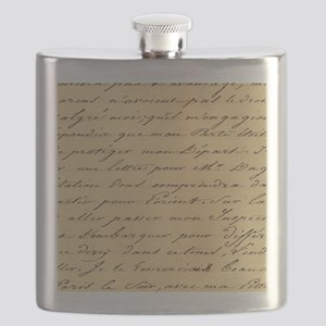 shabby chic french script  Flask