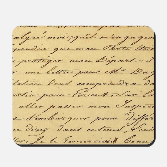 shabby chic french script  Mousepad