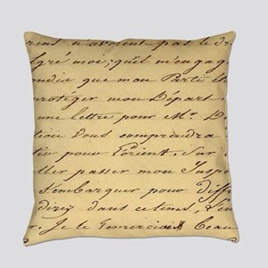 shabby chic french script  Everyday Pillow
