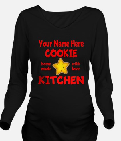 Cookie Kitchen Long Sleeve Maternity T-Shirt