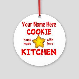Cookie Kitchen Round Ornament