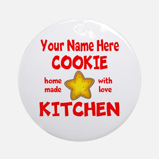 Cookie Kitchen Round Ornament