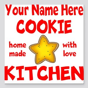 """Cookie Kitchen Square Car Magnet 3"""" x 3"""""""
