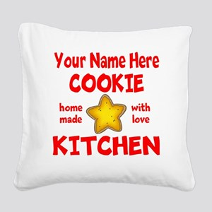 Cookie Kitchen Square Canvas Pillow