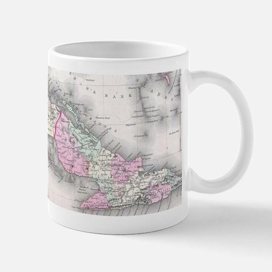 Vintage Map of Cuba (1861) Mugs