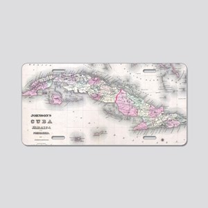Vintage Map of Cuba (1861) Aluminum License Plate