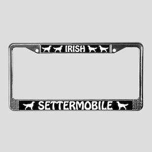 Irish Settermobile License Plate Frame