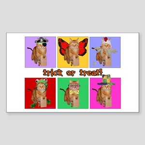 Trick or Treat Cat Rectangle Sticker