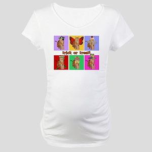 Trick or Treat Cat Maternity T-Shirt