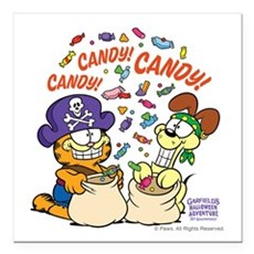 """Candy! Candy! Candy! Square Car Magnet 3"""" X 3"""