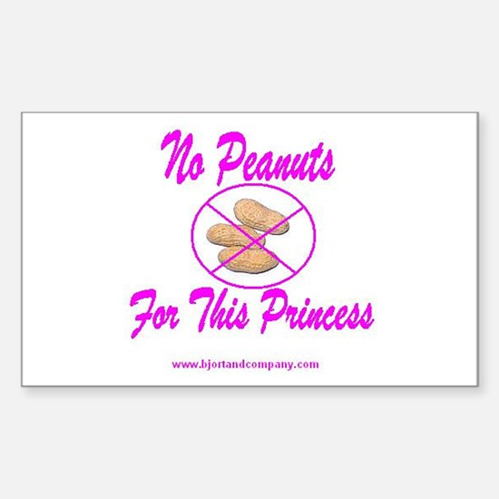 No Peanuts For This Princess Rectangle Decal
