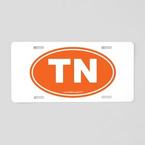 Tennessee TN Euro Oval Aluminum License Plate