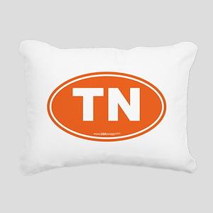 Tennessee TN Euro Oval Rectangular Canvas Pillow