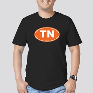 Tennessee TN Euro Oval Men's Fitted T-Shirt (dark)