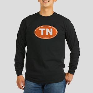 Tennessee TN Euro Oval Long Sleeve Dark T-Shirt
