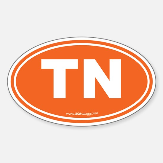 Tennessee TN Euro Oval Sticker (Oval)