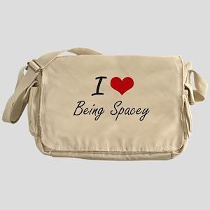 I love Being Spacey Artistic Design Messenger Bag