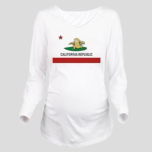 Surfing Cali Sloth Long Sleeve Maternity T-Shirt