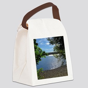 Lake View Scenery Canvas Lunch Bag