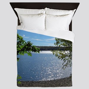 Lake View Scenery Queen Duvet